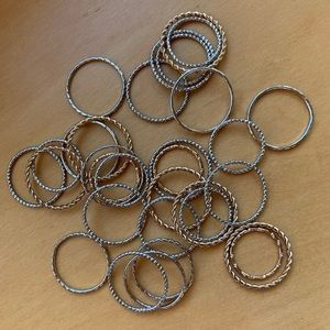 Silver and Gold Costume Stackable Rings